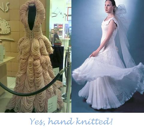Knitted wedding dresses Dresses LR Hand knitted by Jemma Sykes for