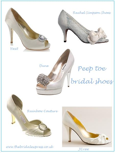 Here's some beautiful bridal peepers for you Peep toe bridal shoes